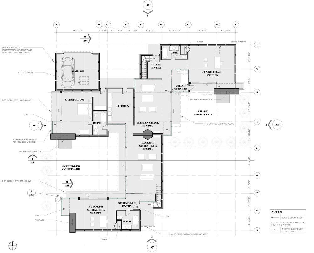 Image gallery schindler house for 1 king west floor plans