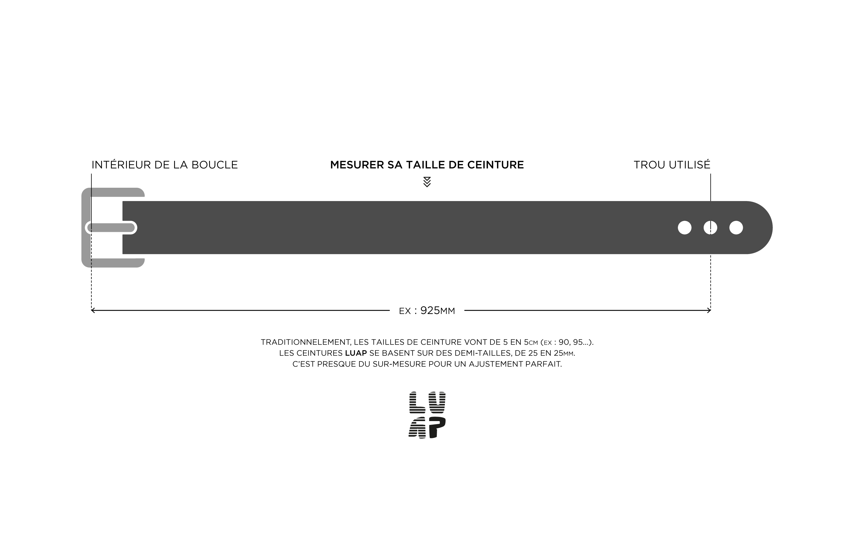 LUAP - CEINTURE NOIRE 33MM 10170d839dd
